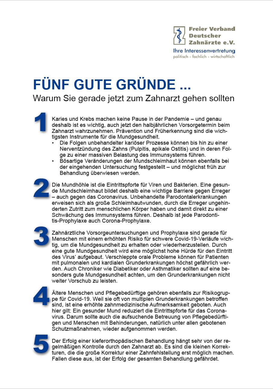 Patienteninformation_Fuenf_gute_Gruende